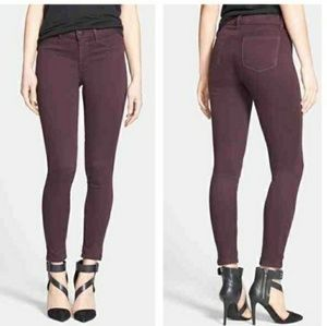 J Brand 485 Super Skinny Jeans Dark Plum 26